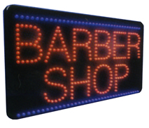 BARBER SHOP Animated Led Sign Low cost L.E.D. sign.
