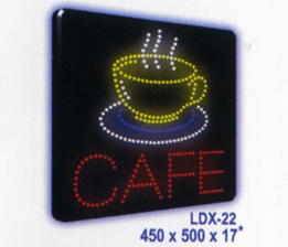 CAFÉ - CUP Animated Led Sign Low cost L.E.D. sign.