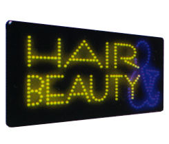 HAIR &  BEAUTY Animated Led Sign Low cost L.E.D. sign.