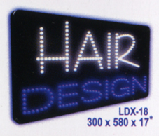 HAIR DESIGN Animated Led Sign Low cost L.E.D. sign.