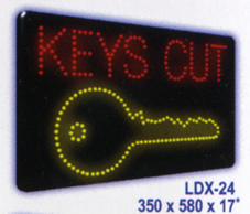KEYS CUT Animated Led Sign Low cost L.E.D. sign.