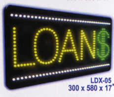 LOANS Animated Led Sign Low cost L.E.D. sign.