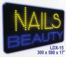 NAILS BEAUTY Animated Led Sign Low cost L.E.D. sign.