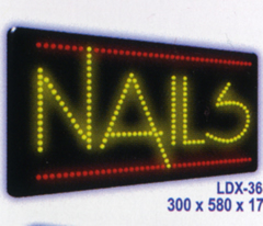 NAILS Animated Led Sign Low cost L.E.D. sign.