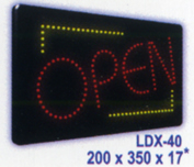 OPEN (sm) 5mm LEDs Animated Led Sign Low cost L.E.D. sign.