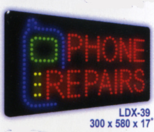 PHONE REPAIRS Animated Led Sign Low cost L.E.D. sign.