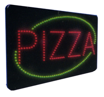PIZZA Animated Led Sign Low cost L.E.D. sign.
