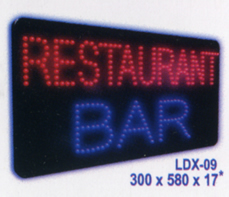 RESTAURANT BAR Animated Led Sign Low cost L.E.D. sign.