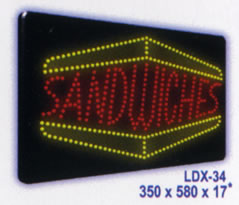 SANDWICHES Animated Led Sign Low cost L.E.D. sign.