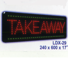 TAKEAWAY Animated Led Sign Low cost L.E.D. sign.