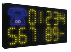 TELEPHONE NUMBER Animated Led Sign Low cost L.E.D. sign.