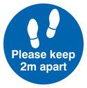 Please keep 2 metres apart floor graphic