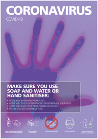 A3 Coronavirus - Make Sure You Use Soap And Water Or Hand Sanitiser  Poster