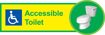 Accessible toilet dementia sign