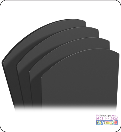 Chalkboard panels small 563 x 813 x 3 mm no graphics