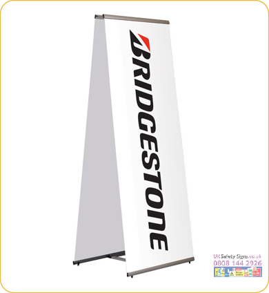 Quick banner two sided 1000 x 1970 mm no graphics sign