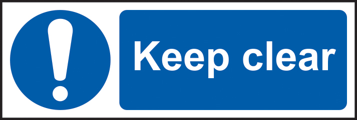 Keep clear self adhesive vinyl 300 x 100mm sign