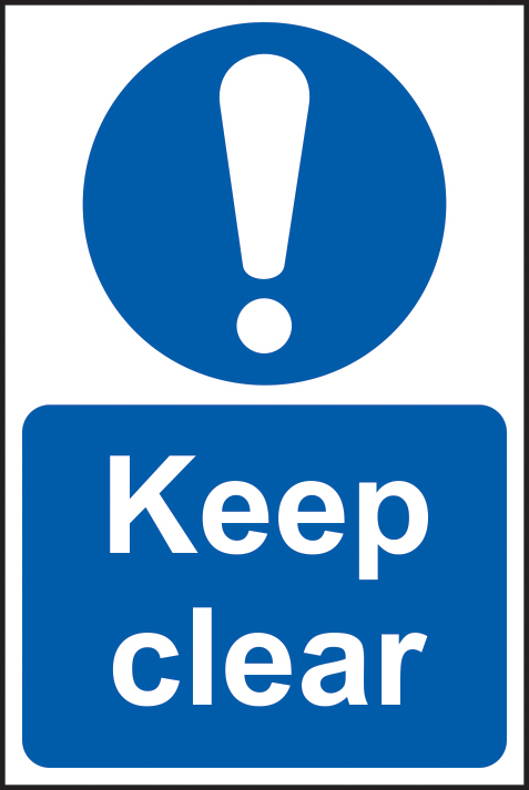Keep clear sign 1mm rigid plastic 400 x 600mm sign