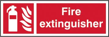 Fire extinguisher sign 1mm rigid plastic 450 x 150mm sign