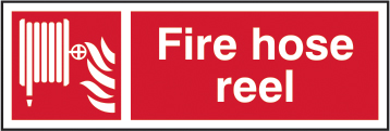 Fire hose reel self adhesive vinyl 300 x 100mm sign