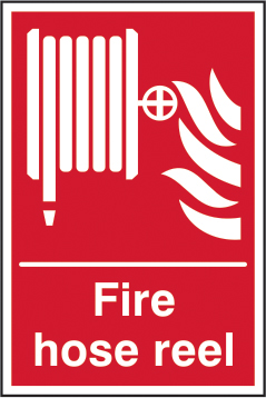 Fire hose reel self adhesive vinyl 300 x 400mm sign
