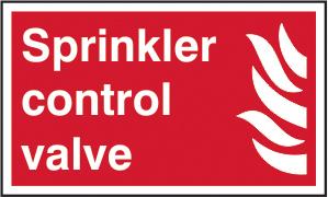 Sprinkler control valve sign 1mm rigid plastic 250 x 150mm sign