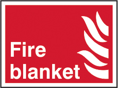 Fire blanket sign 1mm rigid plastic 200 x 150mm sign