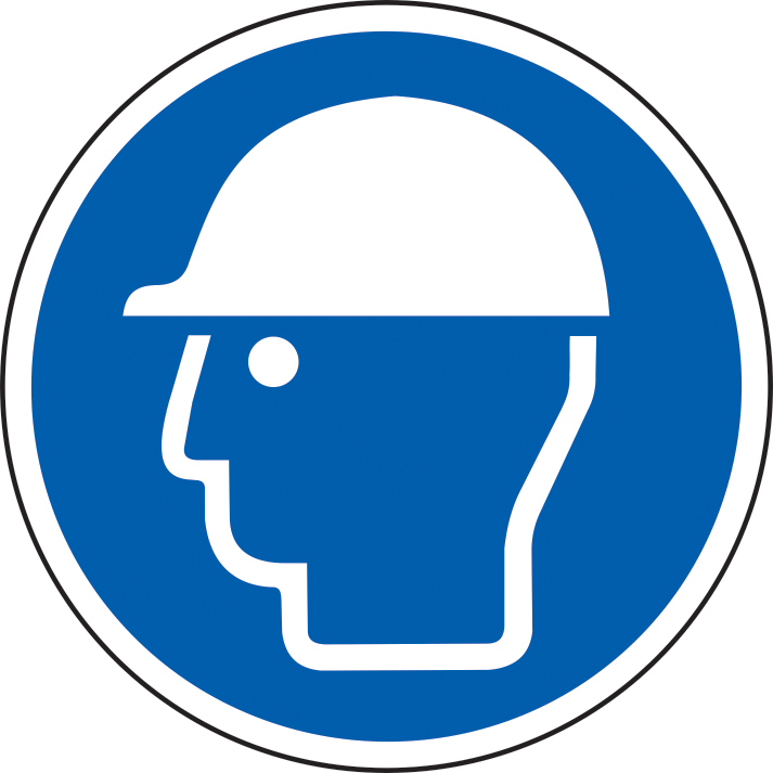400mm diameterSafety Helmet Symbol Floor Graphic sign