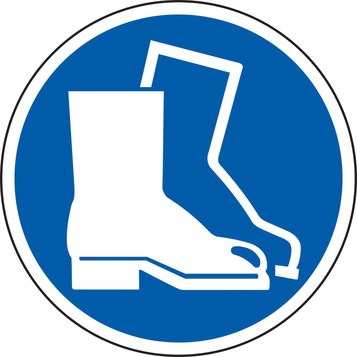 400mm diameterSafety Boots Symbol Floor Graphic sign