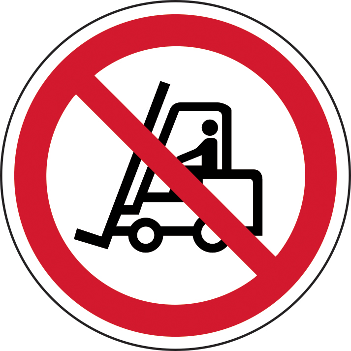 400mm diameterNo Forklifts Symbol Floor Graphic sign