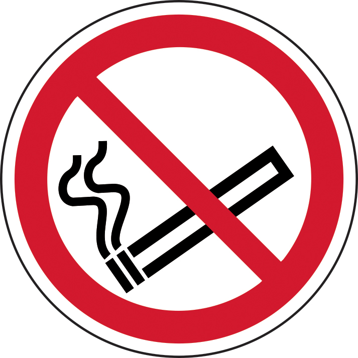 400mm diameterNo Smoking Symbol Floor Graphic sign