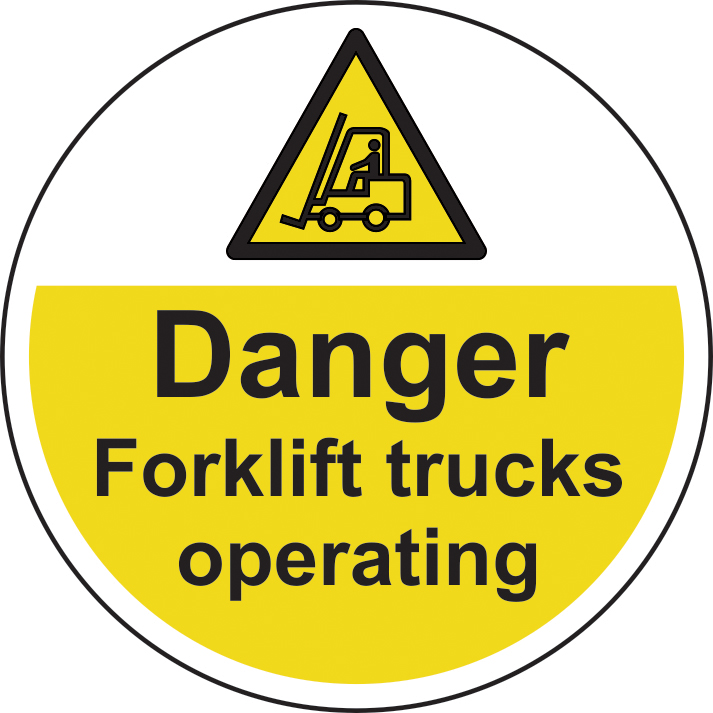 400mm diameterdanger Forklift trucks Floor Graphic sign