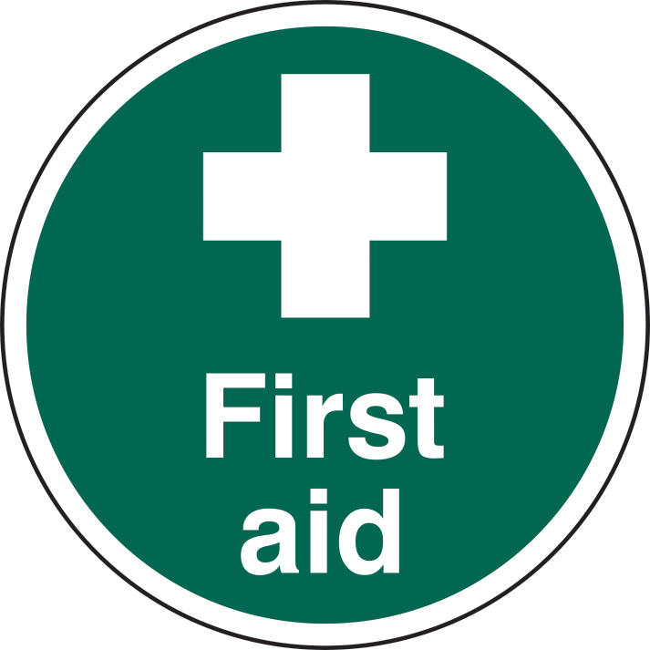 400mm diameterFirst Aid Floor Graphic sign