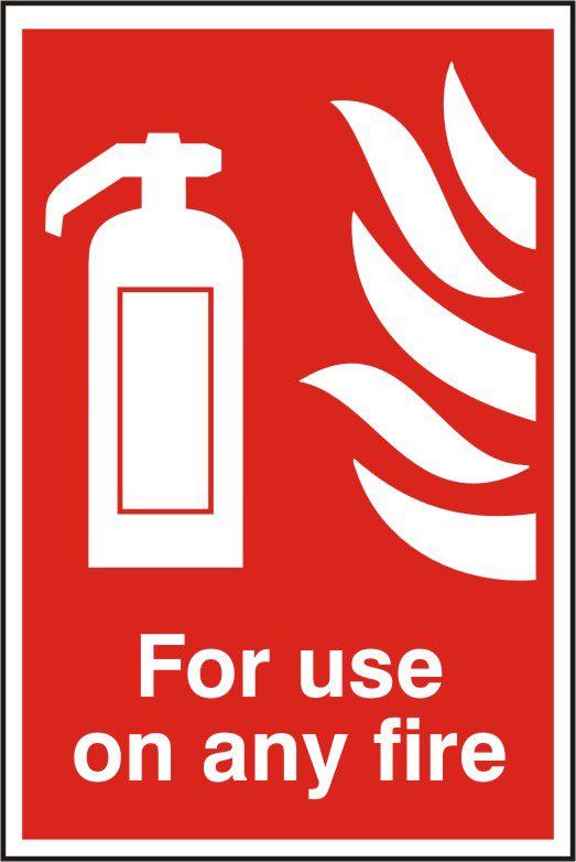 For use on any fire sign 1mm rigid PVC self adhesive backing 200 x 300mm sign