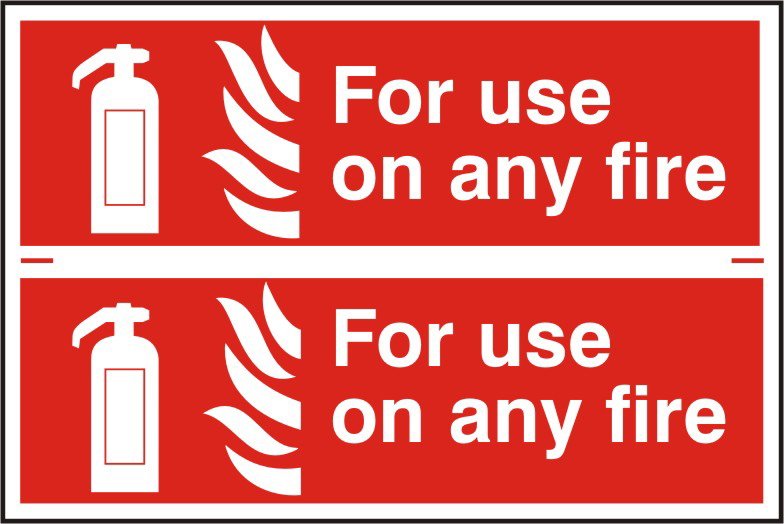 For use on any fire sign 1mm rigid PVC self adhesive backing 300 x 200mm sign