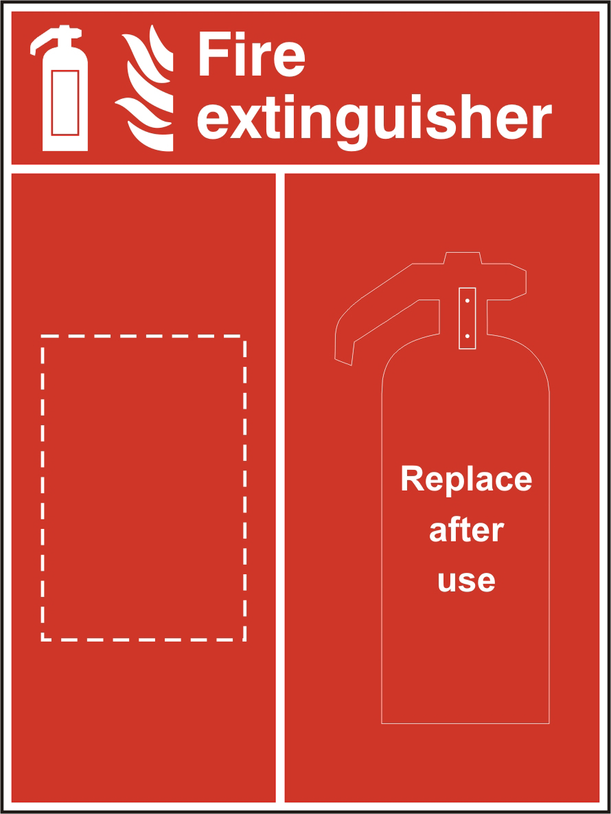 Fire extinguisher Location Panel 600 x 800mm sign
