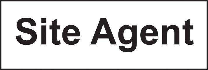 Site Agent self adhesive vinyl 300 x 100mm sign