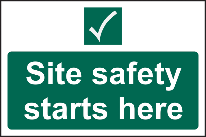 Site safety starts here sign 1mm rigid plastic 400 x 300mm sign