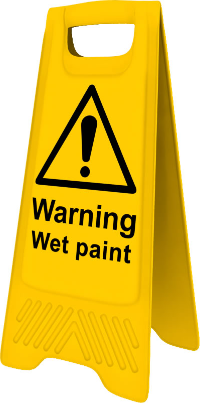 Heavy Duty A Board sign Warning Wet Paint sign