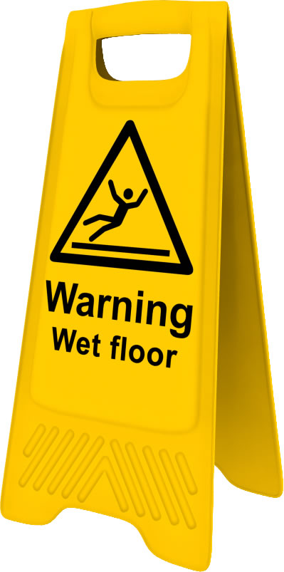 Heavy Duty A Board sign Warning Wet Floor sign