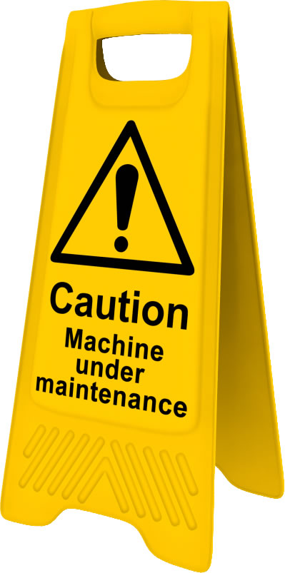 Heavy Duty A Board sign Caution Machine under maintenance sign