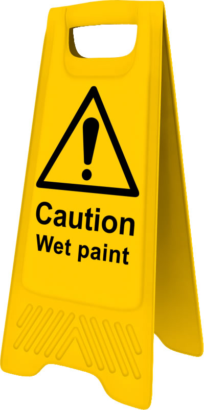 Heavy Duty A Board sign Caution Wet Paint sign