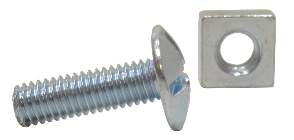 M6 x 20 mm Zinc Plated Roofing Bolts
