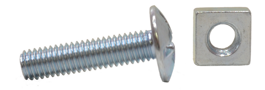 M6 x 25 mm Zinc Plated Roofing Bolts