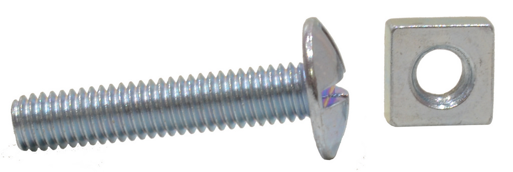 M6 x 30 mm Zinc Plated Roofing Bolts