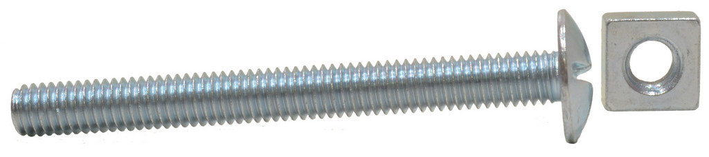 M6 x 50 mm Zinc Plated Roofing Bolts