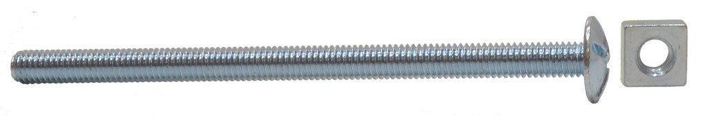 M6 x 100 mm Zinc Plated Roofing Bolts