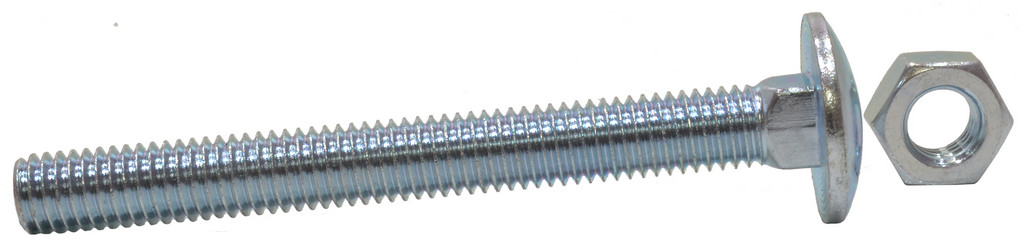 M8 x 100 mm Zinc Plated Small Carriage Bolts and Nuts