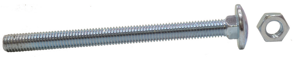 M8 x 150 mm Zinc Plated Small Carriage Bolts and Nuts