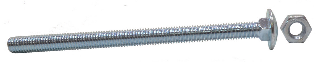 M10 x 150 mm Zinc Plated Small Carriage Bolts and Nuts